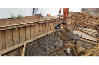 Ép cừ thép cho tầng hầm - Công Ty Cổ Phần BIC